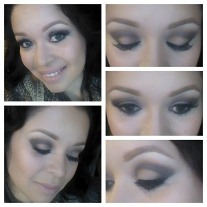 Products used: Urban Decay's Basic, Ardell lashes #415, Milan Easy Brow in Natural Taupe, MICA gel liner