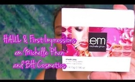 HAUL & First Impressions on em Michelle Phan, BH Cosmetics & more | Honey Kahoohanohano