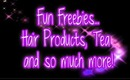 Fun Freebies: Hair products, tea samples and more