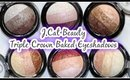 J.Cat Beauty Triple Crown Baked Eyeshadows - REVIEW