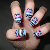 Tribal nail design.