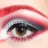 Red black and white makeup!