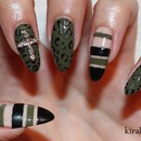 Fashion Inspired Nails: Leather and Khaki