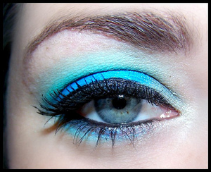 .  Eyes:  Eyeshadow base Hydra on lid Lush in crease Sea glass to blend above crease Ivory under brow Celestial to deepen outer corner High brow on brows Lace in inner corners