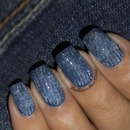 Denim Inspired Nail Art