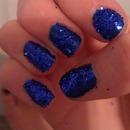 glitter nails(: