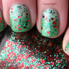 Green Gradient With Christmas Glitter