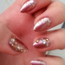 Silver and gold dots