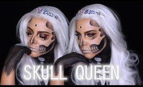 SKULL QUEEN Halloween Makeup tutorial | BEAUTY BY JANNELLE