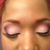 Pink/purple MUFE matte eyeshadows