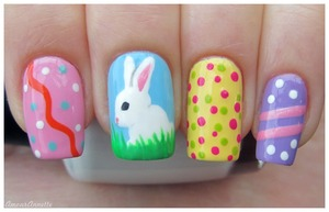 Baby Bunny Easter Nails!