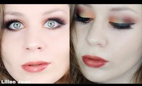 Morphe 35O3 Green and Copper Autumn Makeup Tutorial | Lillee Jean