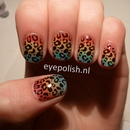 Konad rainbow nail art