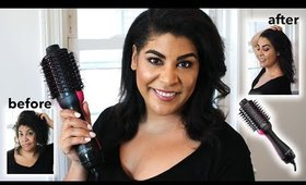 Testing Revlon One-Step Volumizing Blow Dryer On Curly Natural Hair - HONEST Review | queencarlene
