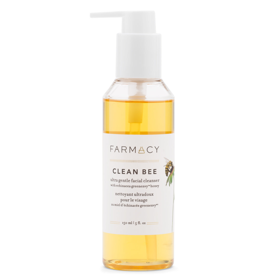 Farmacy Clean Bee Ultra Gentle Facial Cleanser product smear.