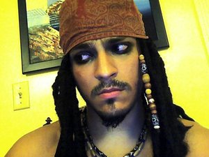 I think my brother pulls off the Pirate look very well! haha