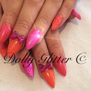 Pink & orange nails...