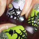 Glitzy Cobweb ♥ Inspired Nails