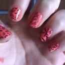 pink teen nails