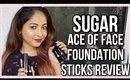 SUGAR ACE OF FACE STICK FOUNDATION | REVIEW & DEMO | Stacey Castanha