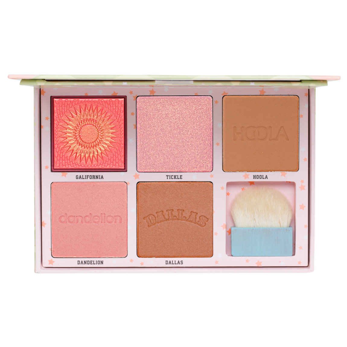 Benefit Cosmetics Cheekleaders Cheek Palette product swatch.