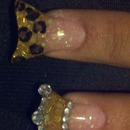 Cheetah print and princess crown tip