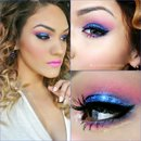 royal blue glitters & pink
