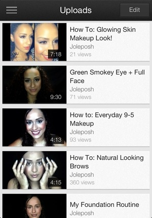 New makeup tutorials are up on my YouTube channel, user name: Joleposh.   Go have a look & put in your requests! ;)