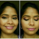 Using Lakme Eyeshadow Quad in Silk Route