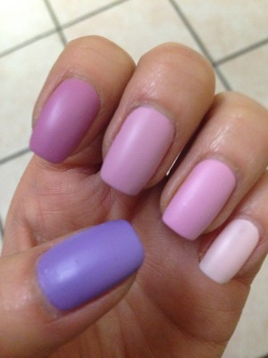 From violet to pastel pink!
