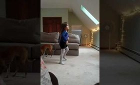 Casidee dancing to Ice Ice Baby song routine