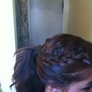 My French braid for the first time:)