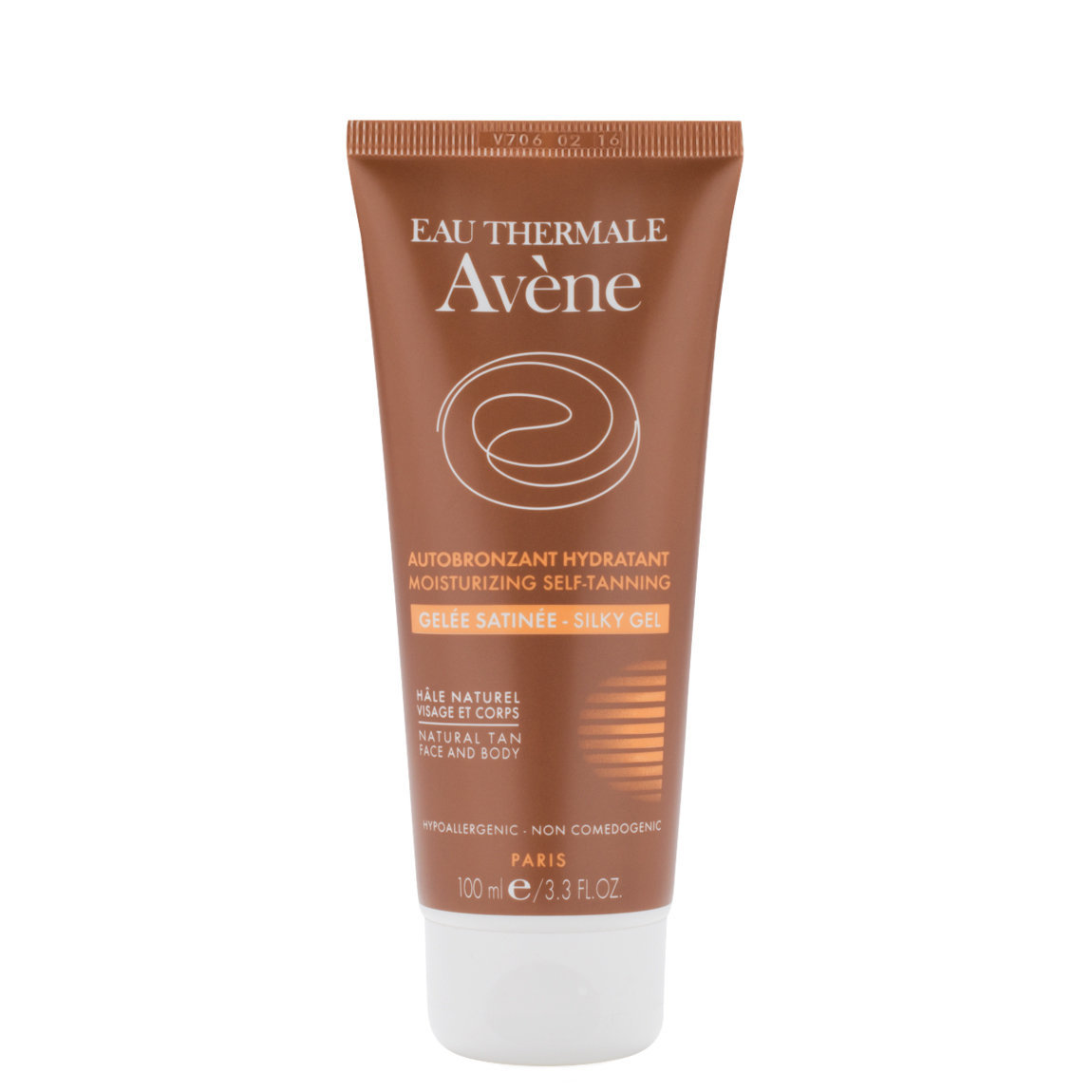 Eau Thermale Avène Moisturizing Self-Tanning Silky Gel product swatch.