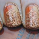 Gradient and Glitter Ruffian Nails