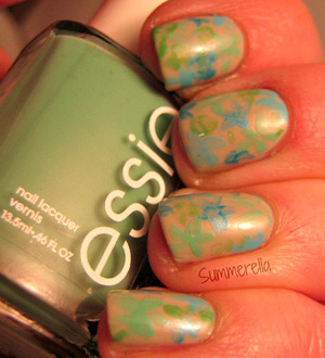 Nail art inspired by the Impressionist art movement, for more info visit my blog http://summerella31.blogspot.com/2013/04/impressionist-flowers.html