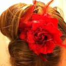 updo with flower!