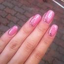 Pink Gel & Gold Glitter