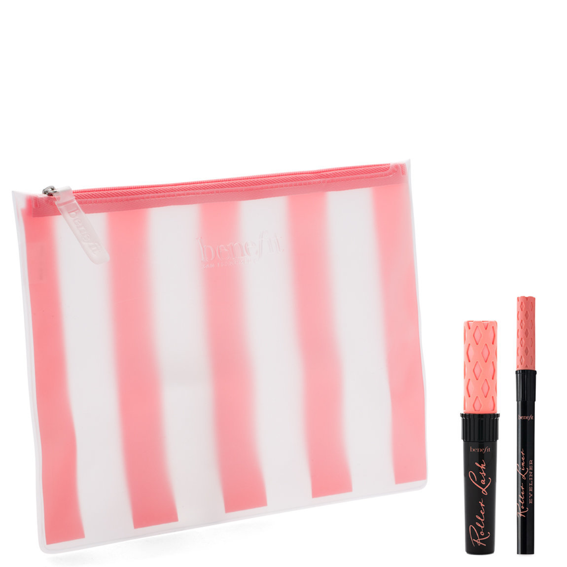 Benefit Cosmetics Lash & Line-up Mascara & Eyeliner Set product smear.