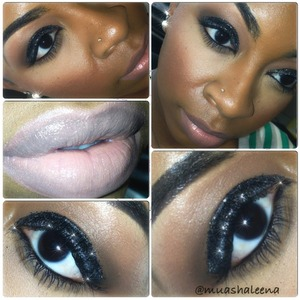 I used black glitter from Ben Nye to create this look!   Follow me on Instagram to see my daily makeup pics @muashaleena