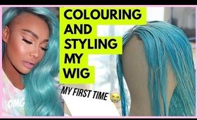COLOURING STYLING MY WIG ICE BLUE | SONJDRADELUXE