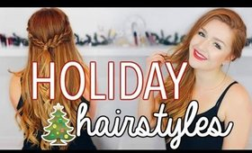 3 EASY HOLIDAY HAIRSTYLES! CarolaneCP