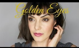 Golden Eyes- Easy makeup look to copy at home