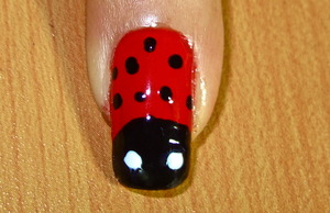 lady bug nail art to watch video tutorial for this look, SUBSCRIBE free to my youtube nailart channel: www.youtube.com/nailartbynidhi