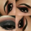 Black and Burgundy Smokey Eye