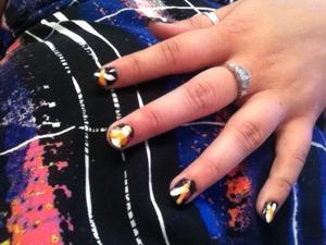 A 'reggae' nail look I created