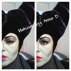 Maleficent makeup look