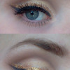 Brown cut crease with gold accent