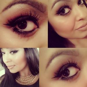 mac cosmetics Brown script and mulch on my eyes, smash hit lipstick