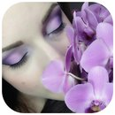 Purple Orchid makeup.