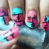 Color Block Nails!!!!!!!!